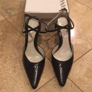 Banana Republic Black ankle wrap dress shoe